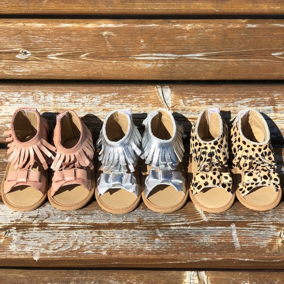SoJo Moccs Shoes | Baby Leopard Leather